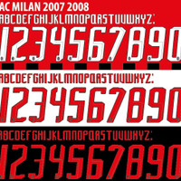 CUSTOM FONT NAMESET AC MILAN 2007-08