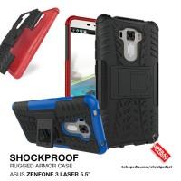 "Armor Case Asus Zenfone 3 Laser 5.5"" ZC551KL Rugged Hybrid Hard Soft"