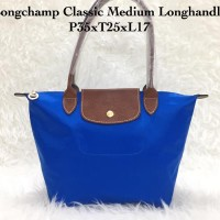 FASHION BARU TAS WANITA LONGCHAMP CLASSIC M LONGHANDLE - BLUE BCA