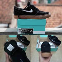 Sepatu Nike Zoom Stefan Janoski Black Metallic Gum Light Brown