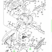 GUIDE AIR SCOOP AIR VIXION 2013-2015 KANAN KIRI ASLI YAMAHA