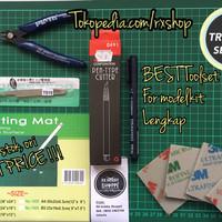 Jual Toolset toolkit cutting mat pen cutter amplas nipper gundam gunpla ori Murah