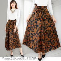Jual Wrapped A-Line Long Skirt / Rok Batik Lilit Murah