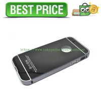 Aluminium Bumper with Mirror Back Cover for iPhone 5c - Black