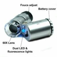 Jual Mikroskop 60x zoom mini ||Kaca pembesar batu cincin Berkualitas Murah