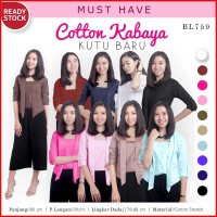 Cotton Kabaya Top Basic Kebaya Kutu Baru Modern (BL759)