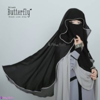 Niqab Butterfly List Grey / Gold