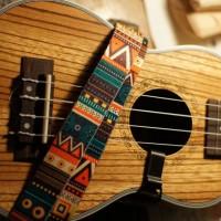 O35/2 Ukulele Mini Guitar Strap Motif Vintage Import
