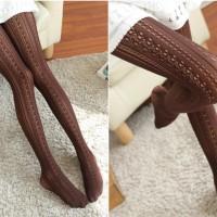 S/30/Brown Pantyhouse seksi stocking stoking impor japan Cokelat