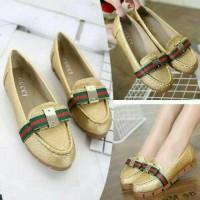 Grosir sepatu flat shoes wanita sport / kets / casual gucci murah