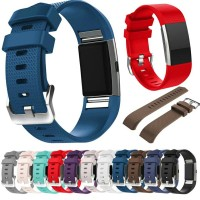 Silicone Sport Strap Band for Fitbit Charge 2