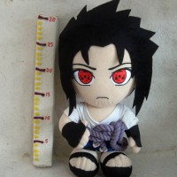 Boneka Sasuke Uchiha Sharingan Original Banpresto Naruto Plush Doll