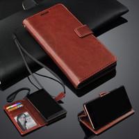 Flip Cover KULIT Vivo V3 / V5 V5s / Y35 Leather Case Dompet Casing HP