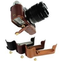 Jual Leather Half Case Grip for FujiFilm X-M1 X-A1 X-A2 Casing Kamera Murah