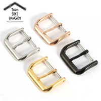 Buckle Clasp Jam Tangan Polished Stainless Steel Watch Strap Band