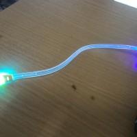Kabel data full light led pelangi universal 25cm (pendek)