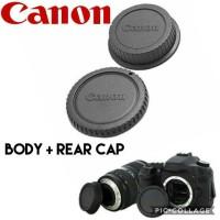 CANON BODY CAP DAN REAR CAP TUTUP BODY DAN LENSA