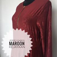 Jual TERLARIS gamis jersey embos Maroon Murah