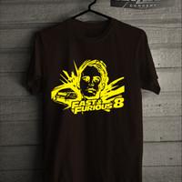 Jual Kaos Pria T-shirt Fast and Furious 8 Paul Walker Edition Murah