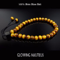 Gelang Tasbih 33 Batu Asli Tiger Eye 6mm