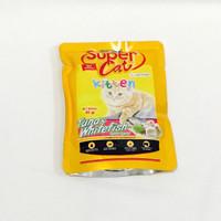 Supercat 85gr Tuna Whitefish Kitten makanan kucing