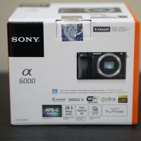 Kamera Sony Alpha 6000 A6000 BO Body Only Garansi Resmi