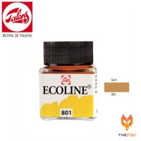 Cat Air Royal Talens Ecoline Liquid Watercolour 30ml GOLD 801