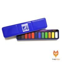 Cat Air Lefranc Watercolour Box Tin 12 Dan Brush