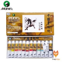 Cat Air Maries Chinese Painting Color Set 12 X 5ml E1301