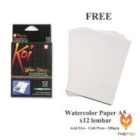 Cat Air Sakura Koi Watercolor Pocket Field Sketch Box 12