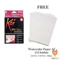 Cat Air Sakura Koi Watercolor Pocket Field Sketch Box 30
