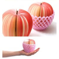 Buku Notes / Kertas Memo Buah Fruit Apel (Bentuk Buah)