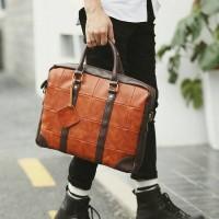 tas selempang pria import/tas kulit/tas kantor,laptop max 13 inch