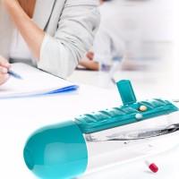 Jual Botol Minum dengan Tempat Obat - Pill Organizer BPA Free Water Bottle Murah