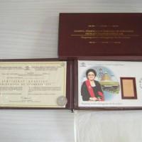 Perangko Emas Bu Tien Soeharto, Gold Stamp, Perangko Super Langka Rare