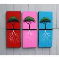 Hiasan Dinding Gambar Lukisan Dekoratif Pohon Akar FAFA16