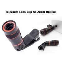 Jual lensa clip tele / telescope / 8x zoom jepit universal untuk hp Murah
