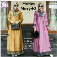 Mahes maxy / gamis songket murah / long dress kondangan baju pesta