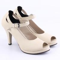 Jual Sepatu Wanita BC AC809 | Pump Shoes Toe High Heels 9 cm | Cream Murah