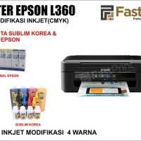 Printer Epson L360 Plus Tinta Sublim Korea & Tinta Original Epson