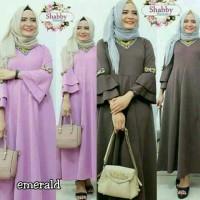 Emerald/Dress Hijab/Baju Muslim Murah/Grosir Baju Cewe/Gamis