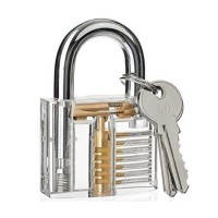 Gembok Transparan kunci motor kunci engsel pintu unik bening