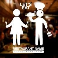 Cutting Sticker Restaurant Custom Stiker Kaca Tembok Rumah Makan Cafe