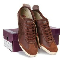 Sepatu ASICS ONITSUKA TIGER MEXICO 66 DELUXE BROWN TH9JHL ORIGINAL
