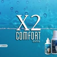 X2 Camfort Extra Cairan Untuk Membersihkan Kontak Lensa softlens 500ml