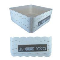 Keranjang Plastik Motif Anyaman Rotan - CLARIS ROTA Travessa (U) Kecil