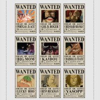 POSTER ONE PIECE - BOUNTY ROGER, ACE, SHANKS, DLL