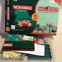 Jual Monopoly Scrabble original 2in1 monopoli board games Murah