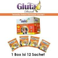 Jual GLUTA DRINK SACHET PERBOX Limited Murah