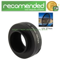 Jual UV Filter Lens 37mm with Cap for Gopro Hero3+ / Hero3 - Black Murah